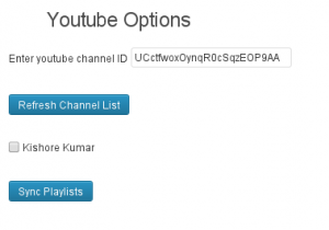 Youtube Syncer Options